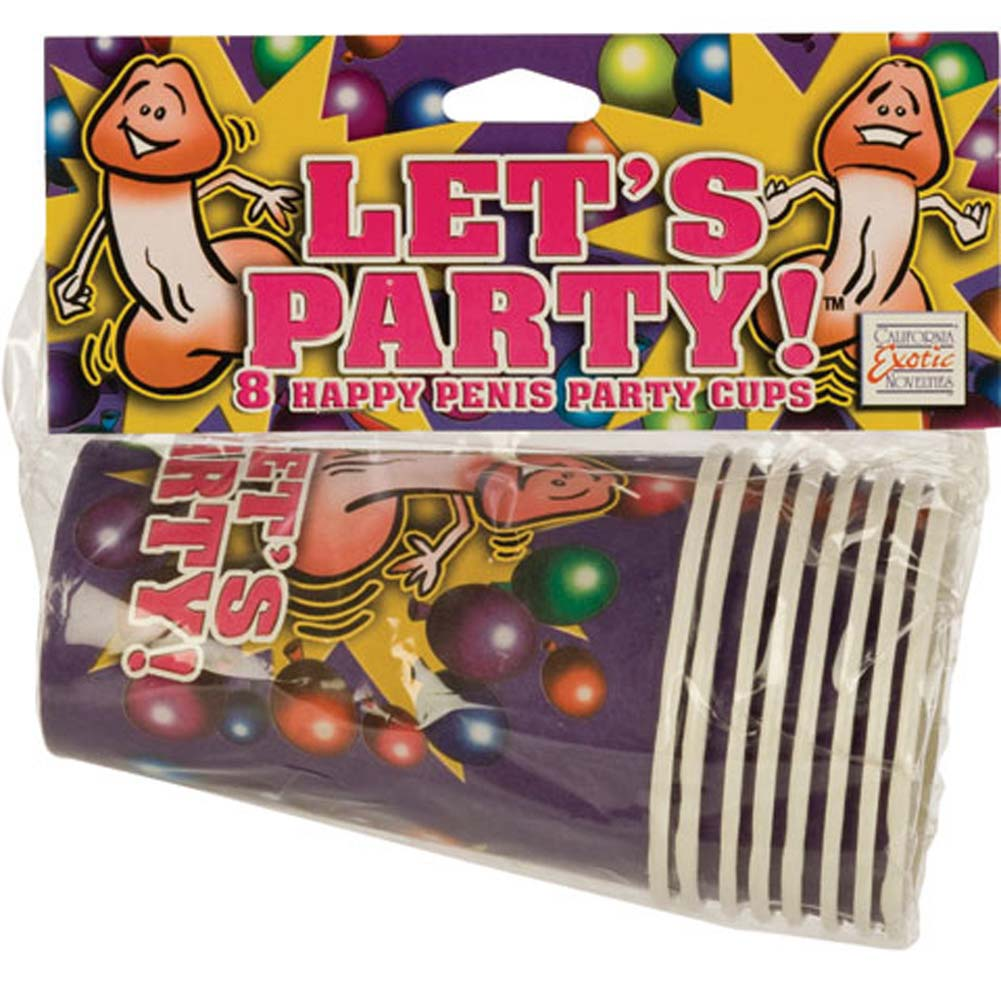 California Exotics Lets Party 8 Happy Penis Party Cups - View #1