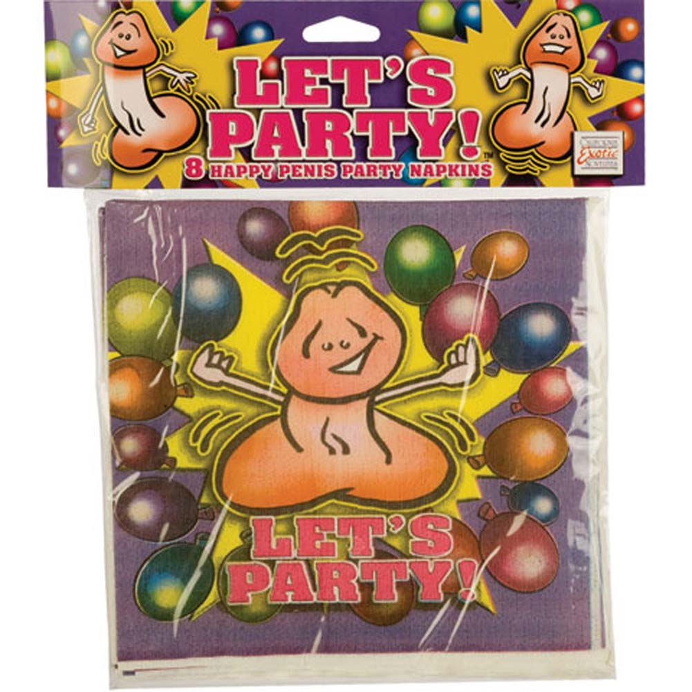 Lets Party 8 Happy Penis Party Napkins - View #1