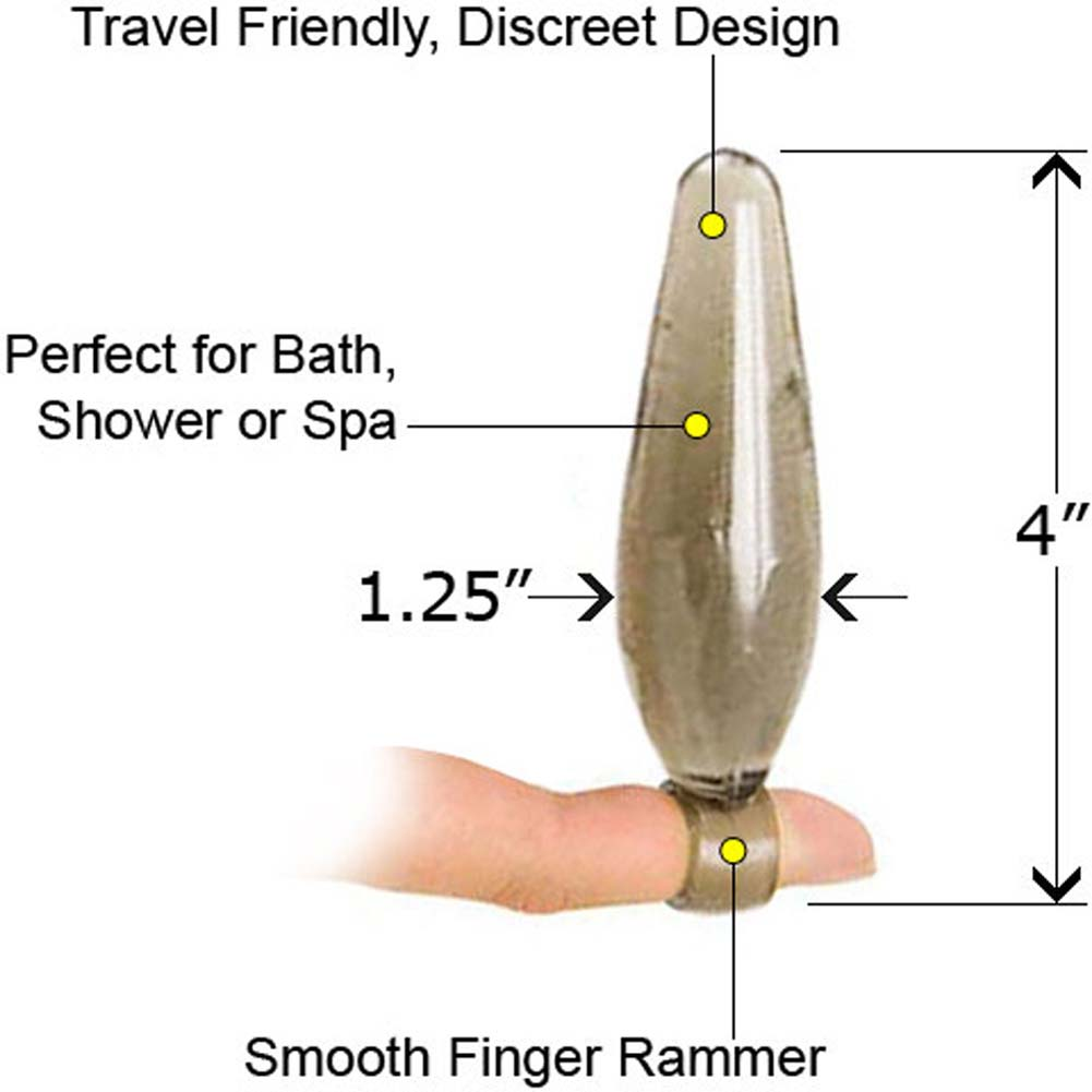 "Bottoms Up Finger Rammers Waterproof Butt Plug 4"" Clear - View #1"