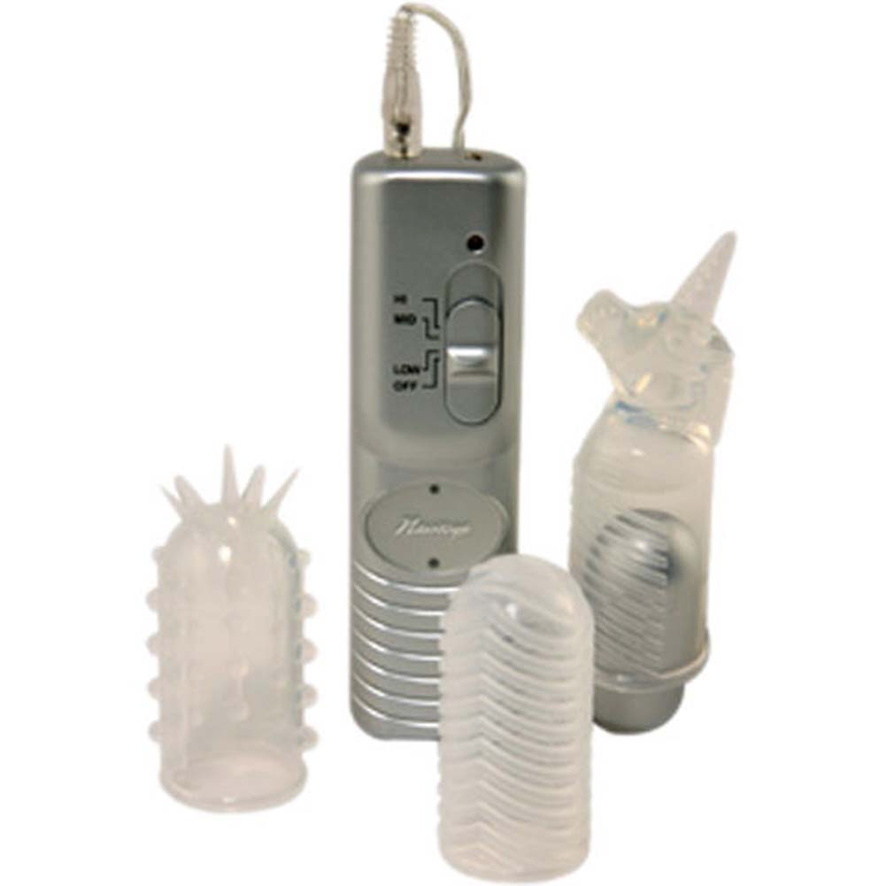 Fantasy Vibrating Bullet Kit with 3 Silicone Sleeves - View #1