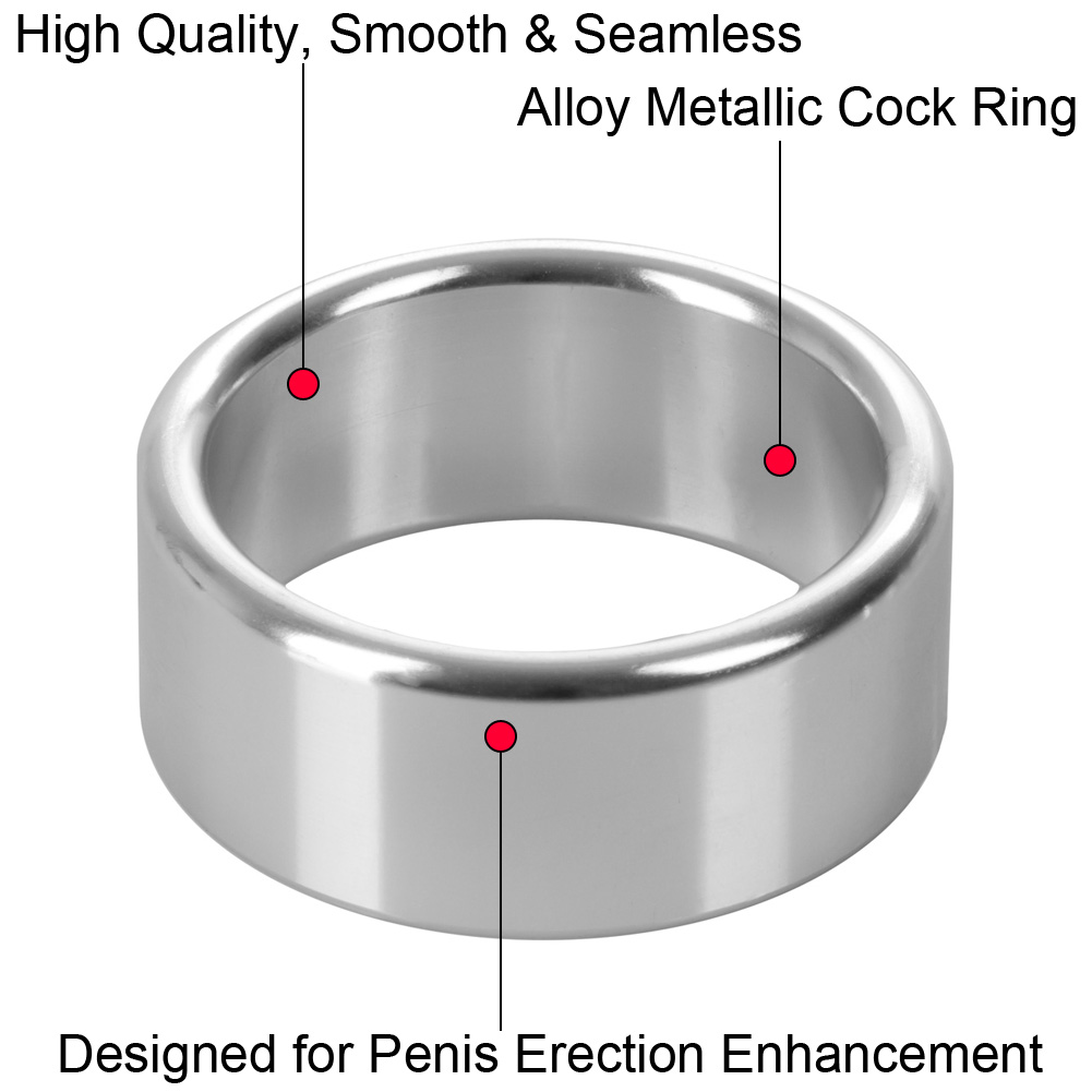 "CalExotics Alloy Metallic Penis Enhancement Ring Extra Large 2"" - View #1"
