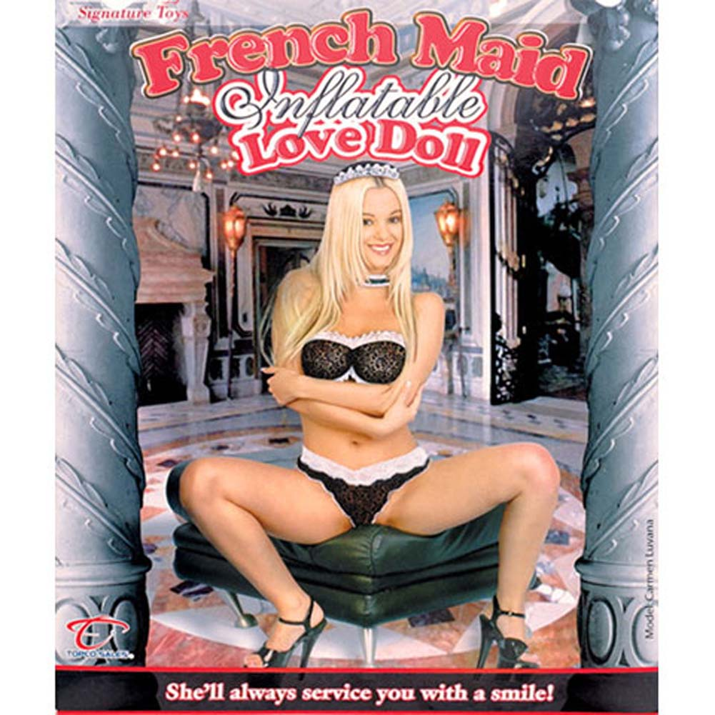 Carmen Luvana French Maid Inflatable Love Doll - View #1