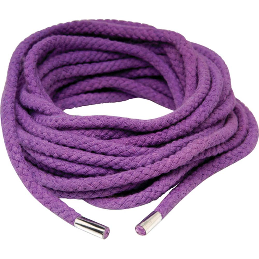 Fetish Fantasy Series Japanese Silk Rope 35 Feet Purple. - View #2