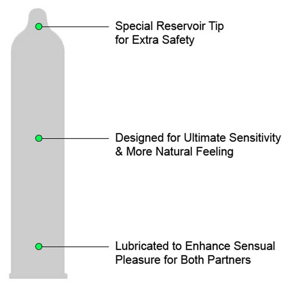 Trojan Sensitivity Ultra Thin Lubricated Condoms 3 Pack - View #1