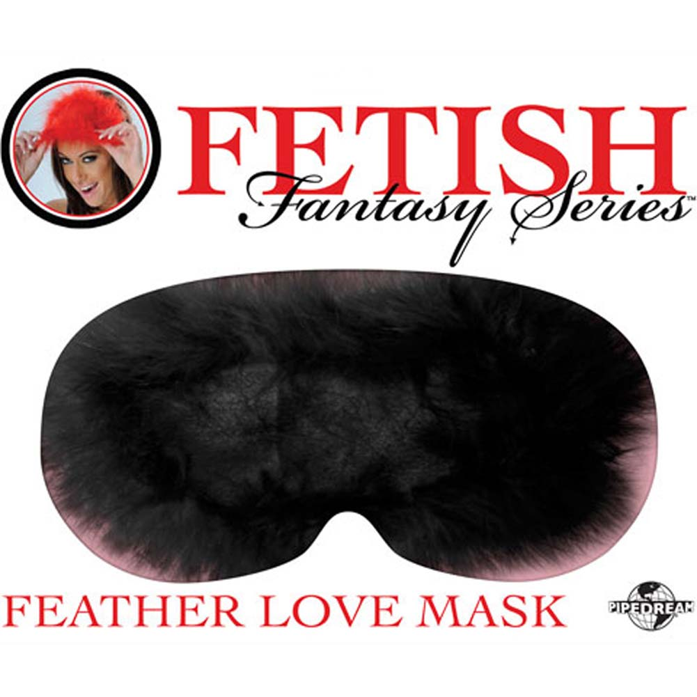 Fetish Fantasy Series Feather Love Mask Black - View #2