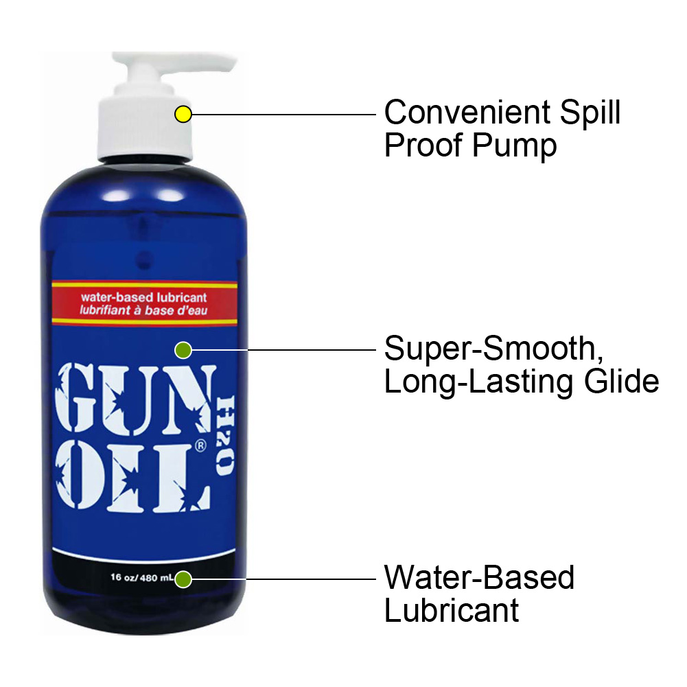Gun Oil H2O Water-Based Personal Lubricant 16 Fl.Oz 480 mL - View #1
