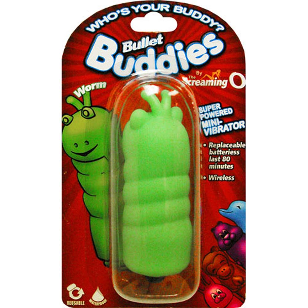 Screaming O Bullet Buddies Worm Waterproof Vibe Green - View #3
