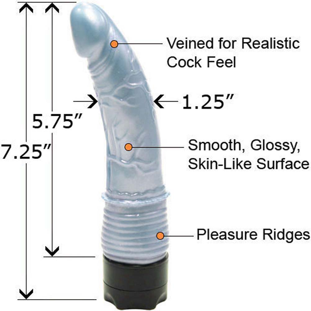 "Pearl Shine Waterproof G-Spot Vibe 7"" Blue. - View #1"