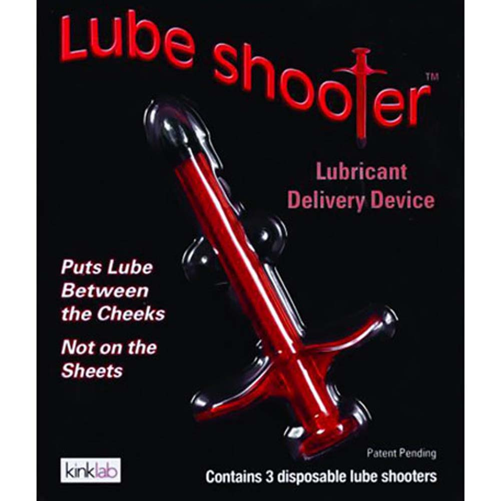 Kinklab Lube Shooter Pack with 3 Disposable Shooters Red - View #4