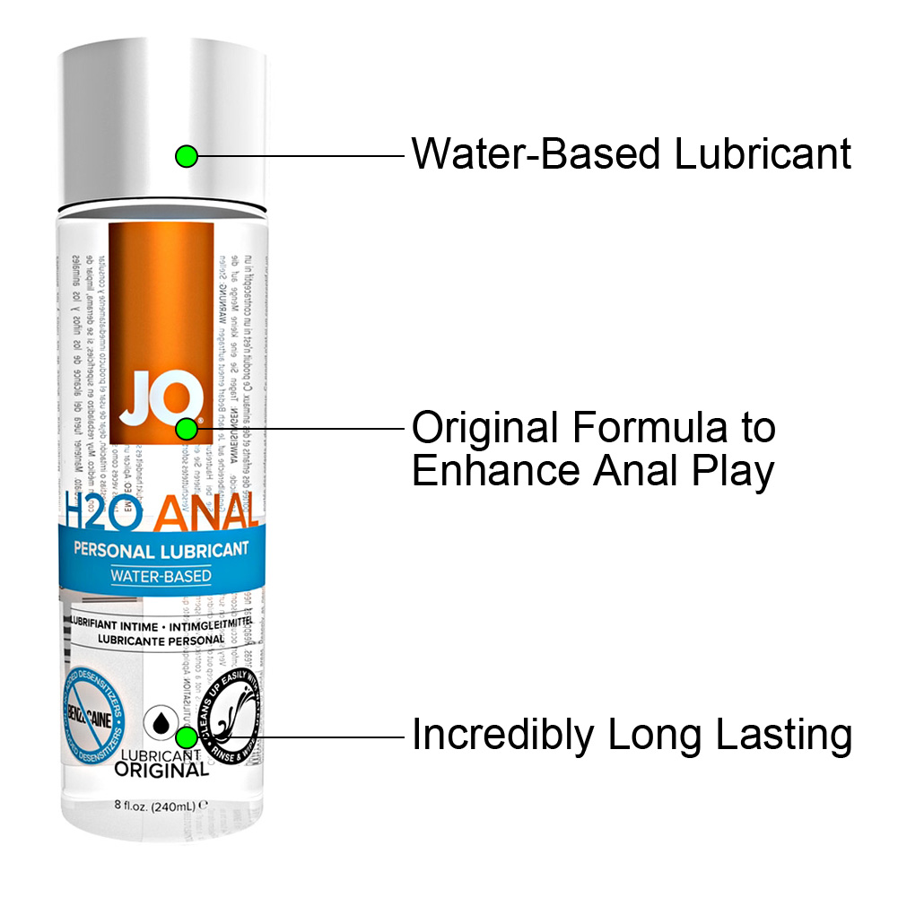 JO H2O Anal Original Water Based Personal Lubricant 8 Fl Oz 240 mL - View #1