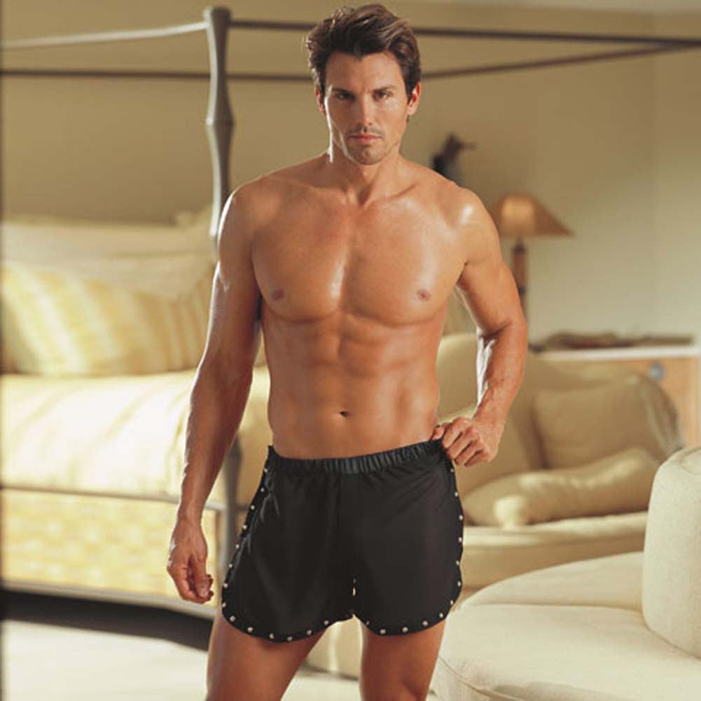 Tear Away Studded Trim Boxer Black Medium/Large RbDV - View #1