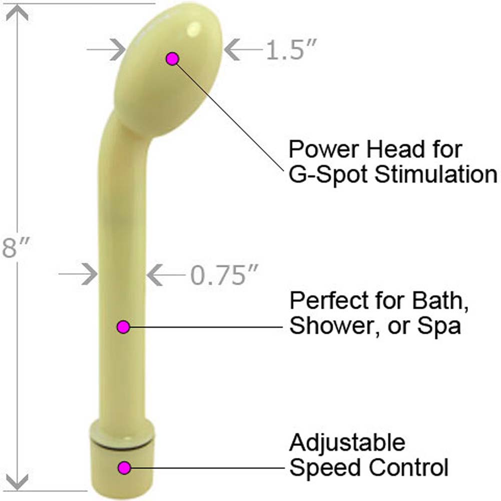 "Slimline G-Spot Waterproof Vibe 8"" Glow in the Dark - View #1"