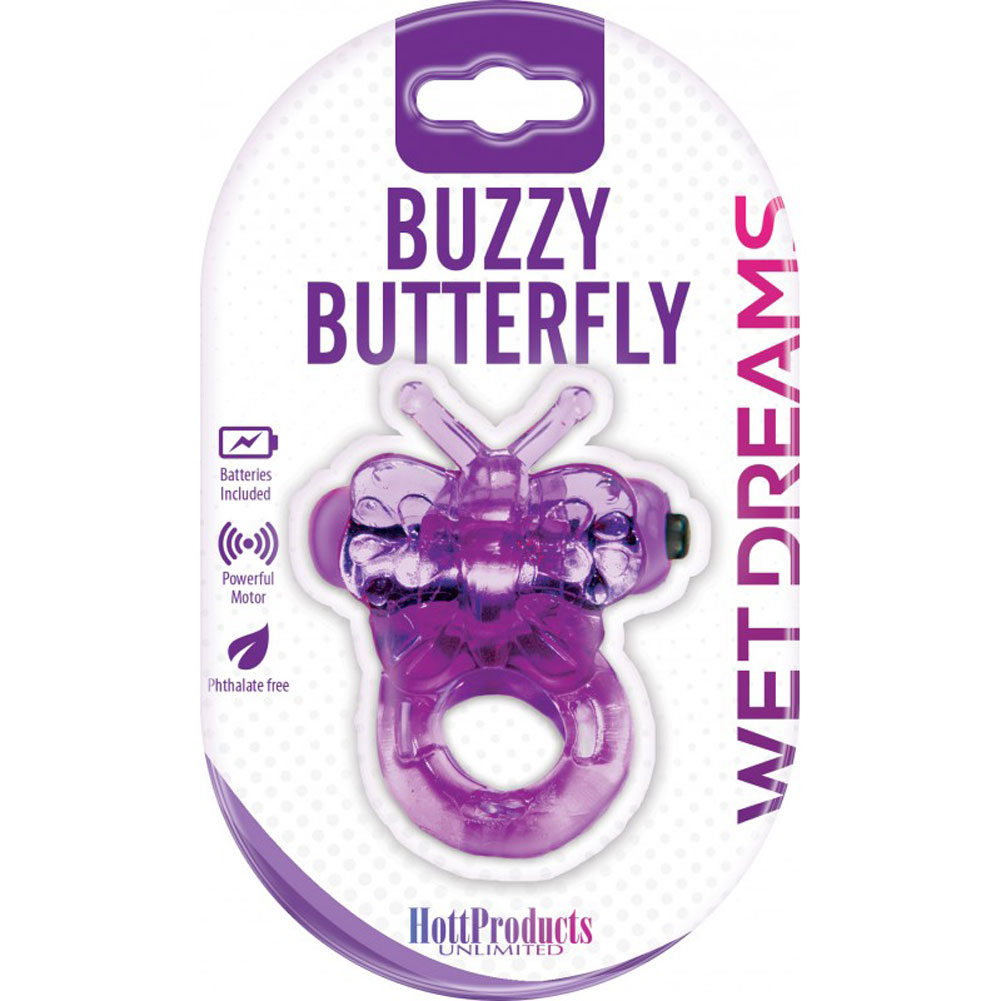Hottproducts Purrrfect Pets Buzzy Butterfly Vibrating Cockring Purple - View #3