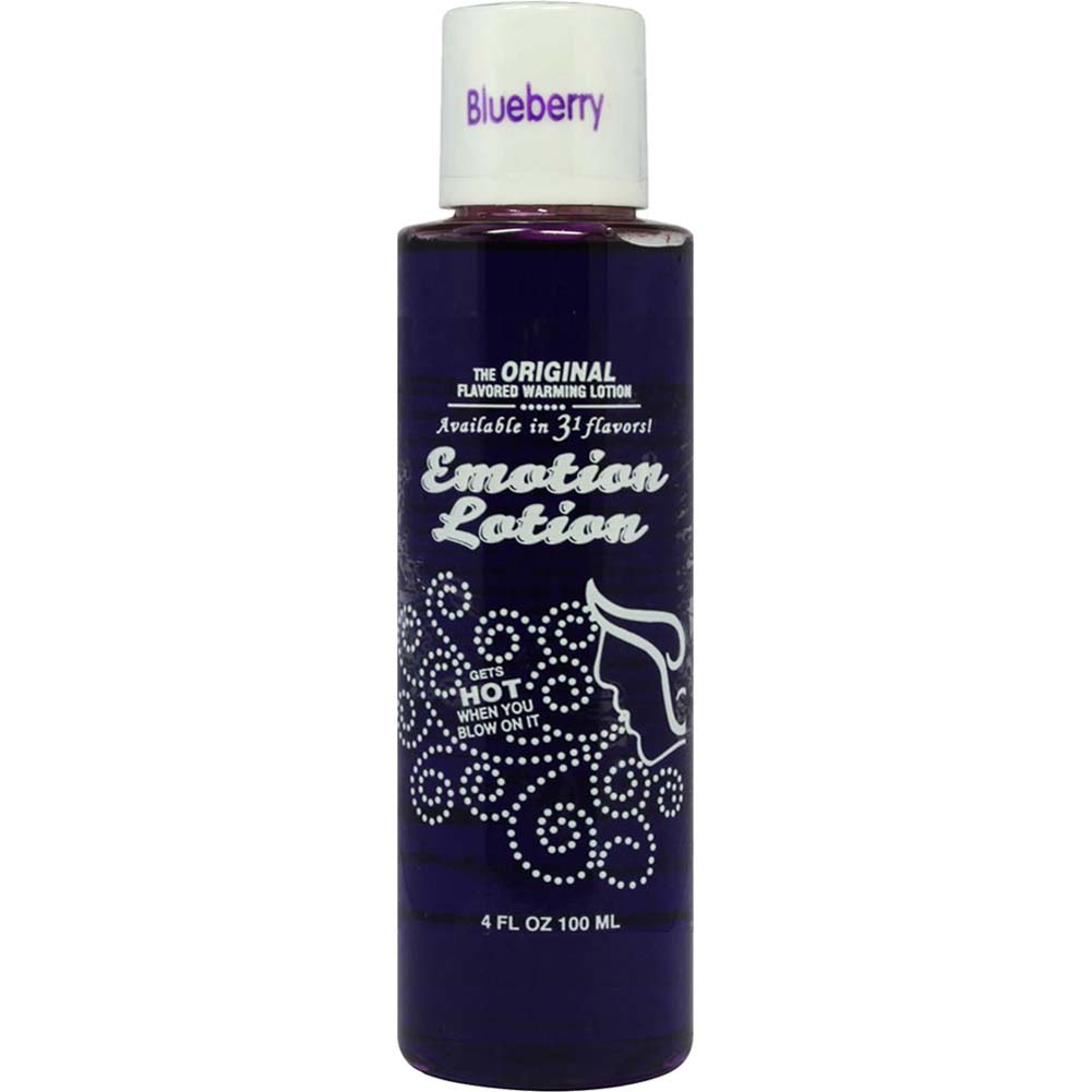 Emotion Lotion Flavored Warming Massage Oil 4 Fl.Oz 120 mL Blueberry - View #1