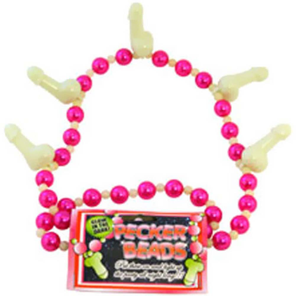 Pecker Beads Glow in the Dark Necklace - View #1