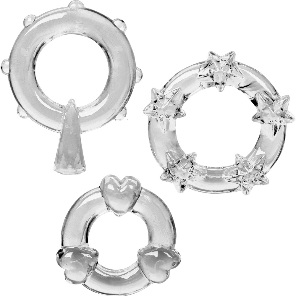 Magic Jelly Rings 3 Pack Clear - View #2