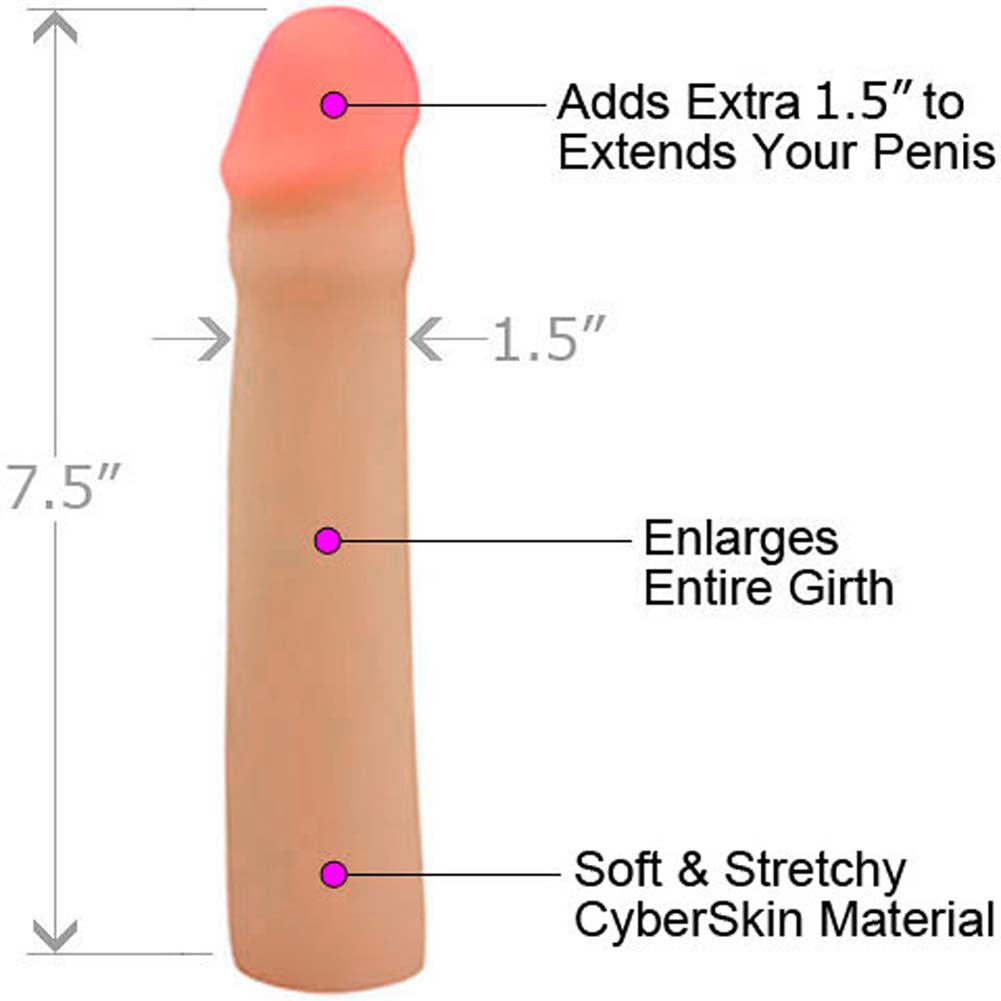 "CyberSkin Transformer 1.5"" Penis Extension Natural - View #1"