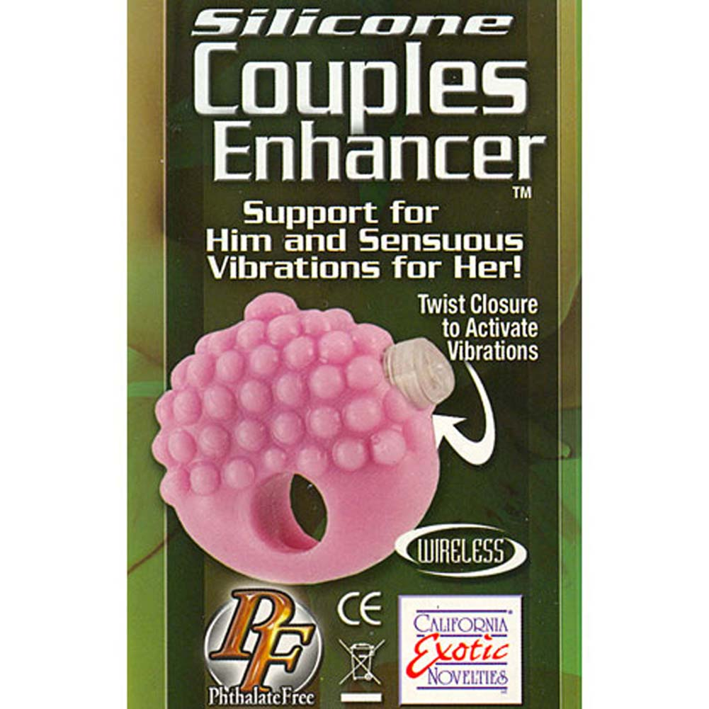 Silicone Couples Enhancer Vibrating Cockring Purple - View #1