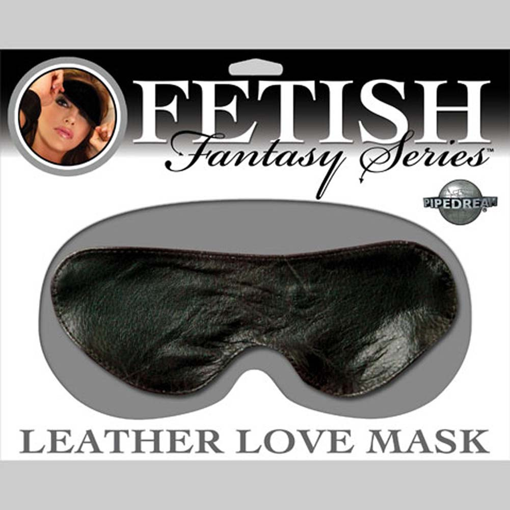 Fetish Fantasy Leather Love Mask Black - View #3