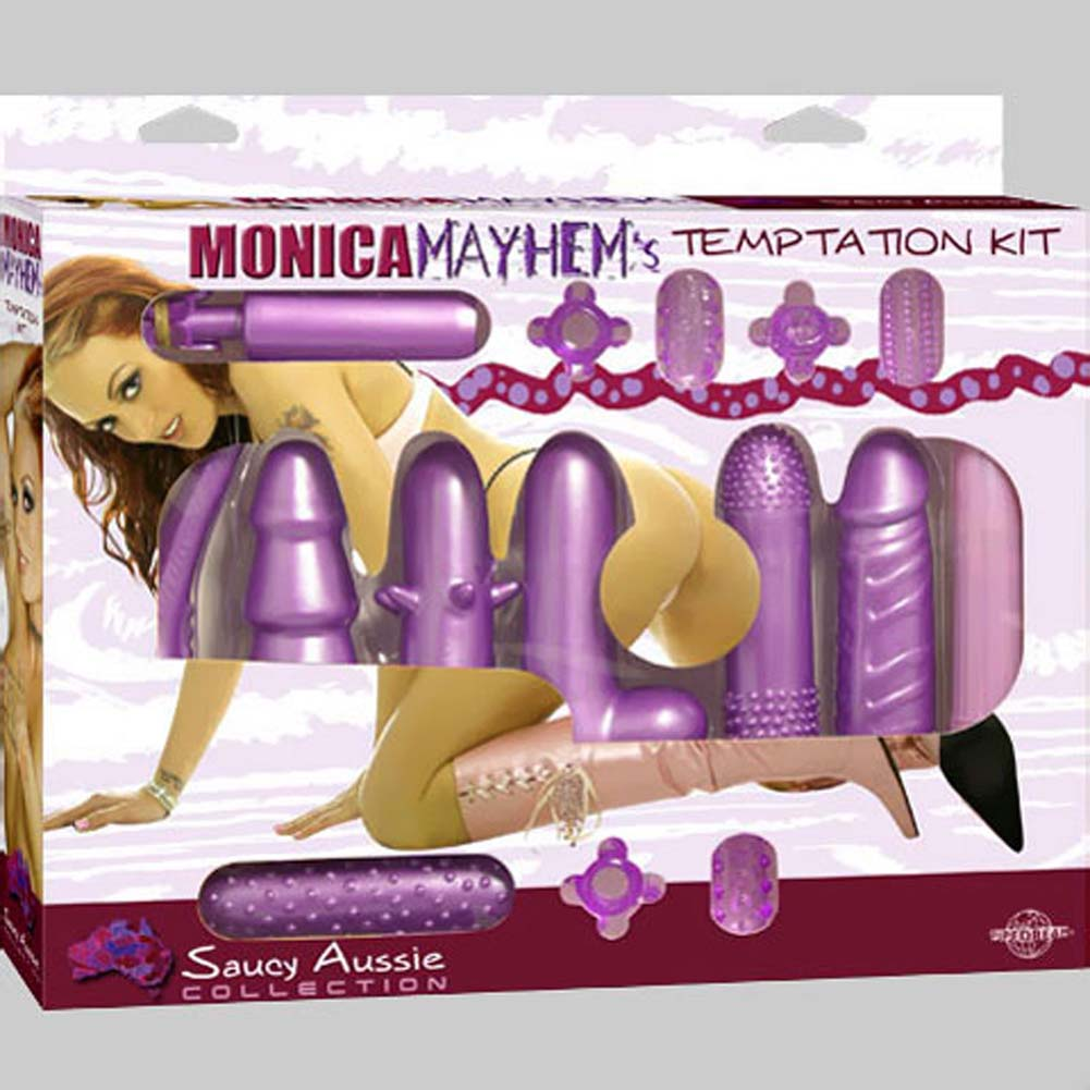 Monica Mayhems Temptation Waterproof Vibrating Kit Purple - View #4