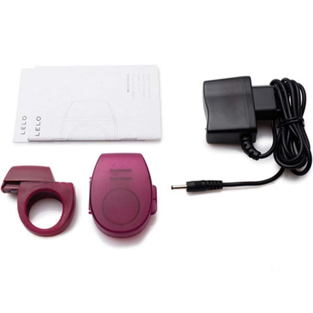 Lelo Bo Rechargeable Vibrating Cockring Bordeaux - View #3