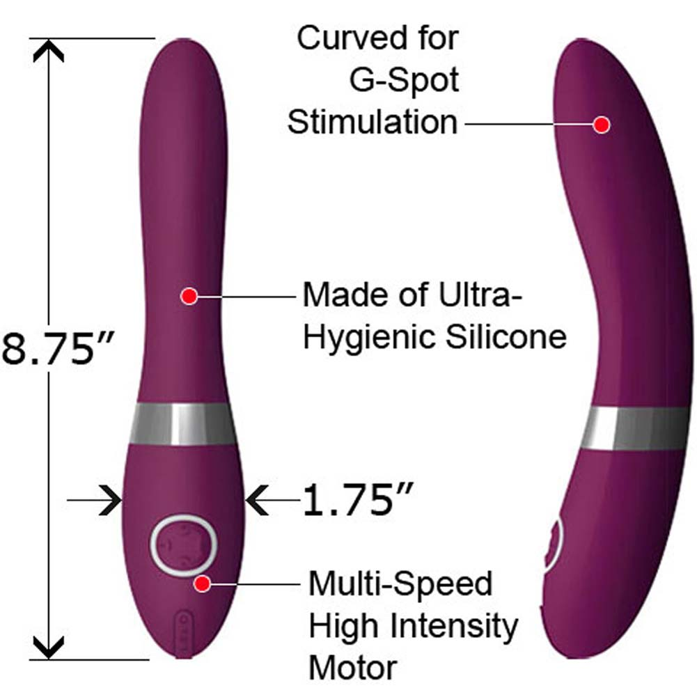 "Lelo Elise G-Spot Rechargeable Silicone Vibe 8.75"" Plum - View #1"