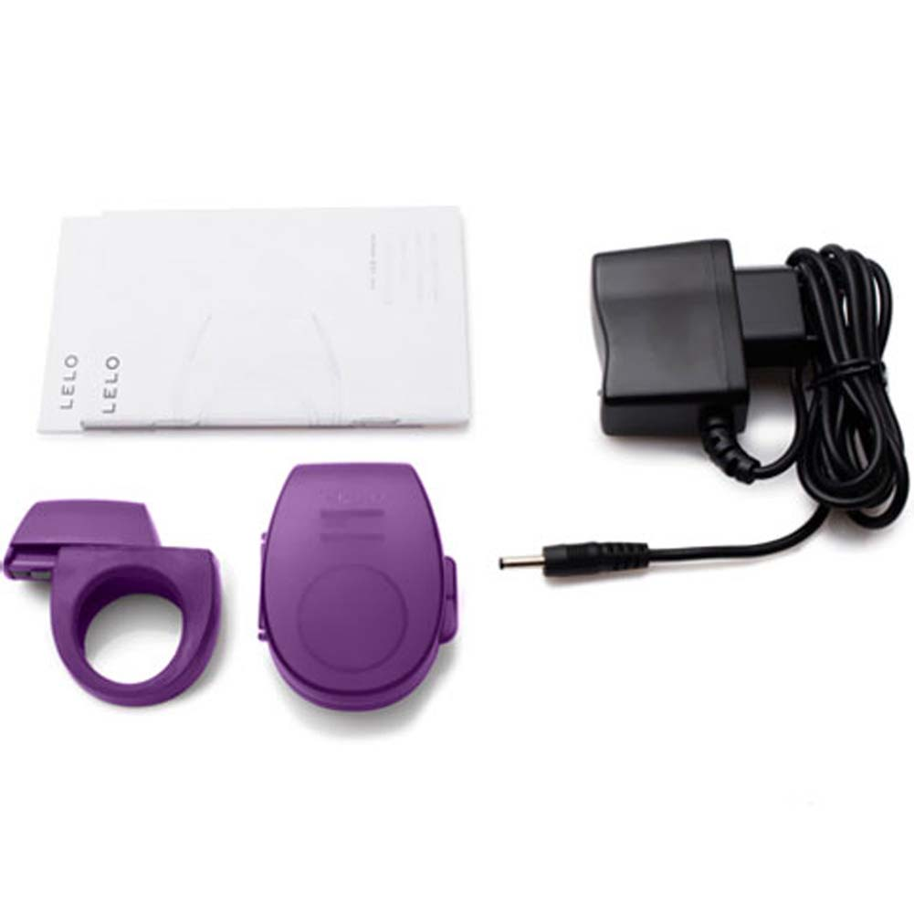 Lelo Tor Rechargeable Vibrating Cockring Purple - View #3