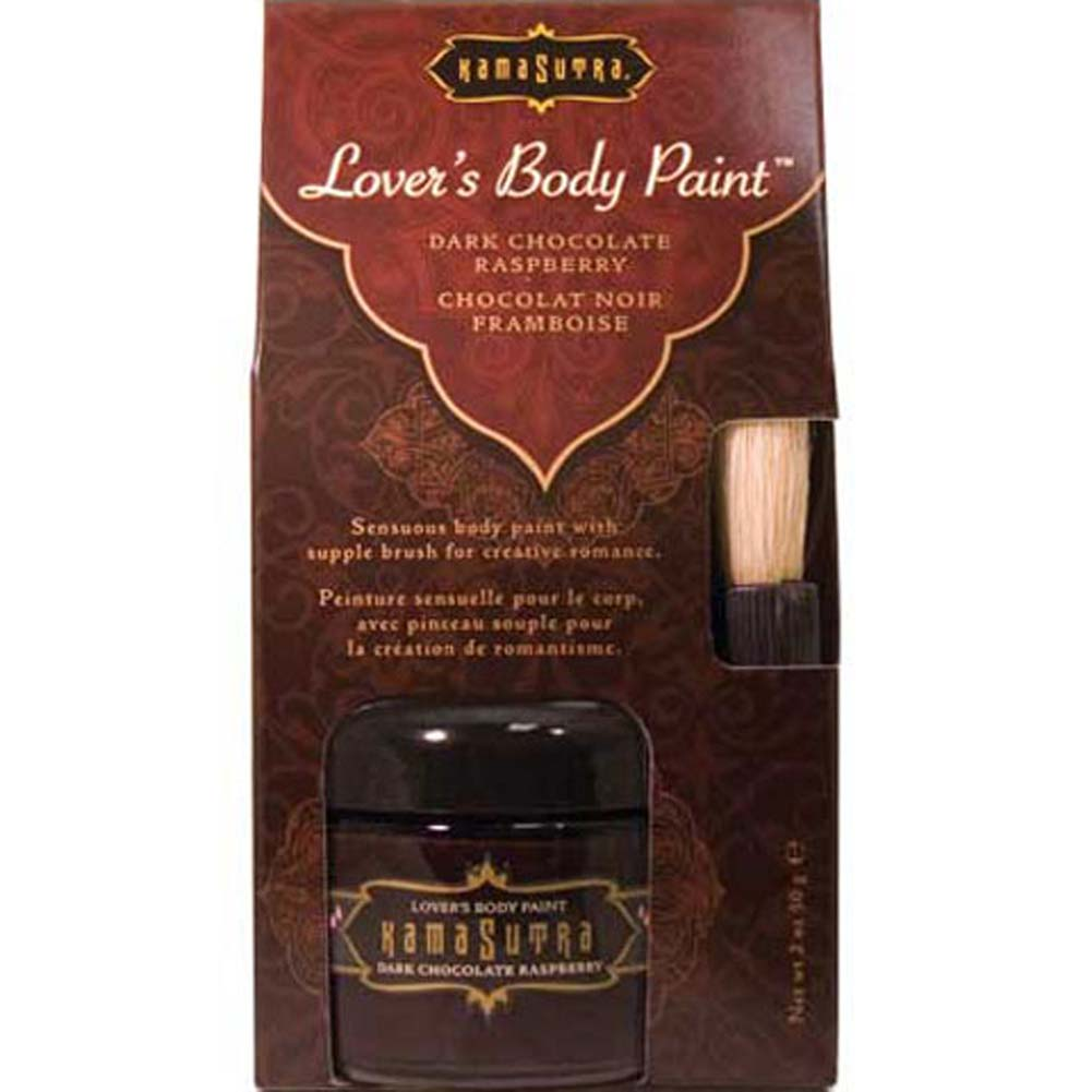Kama Sutra Lovers Body Paint Chocolate Raspberry 2 Fl. Oz. - View #2