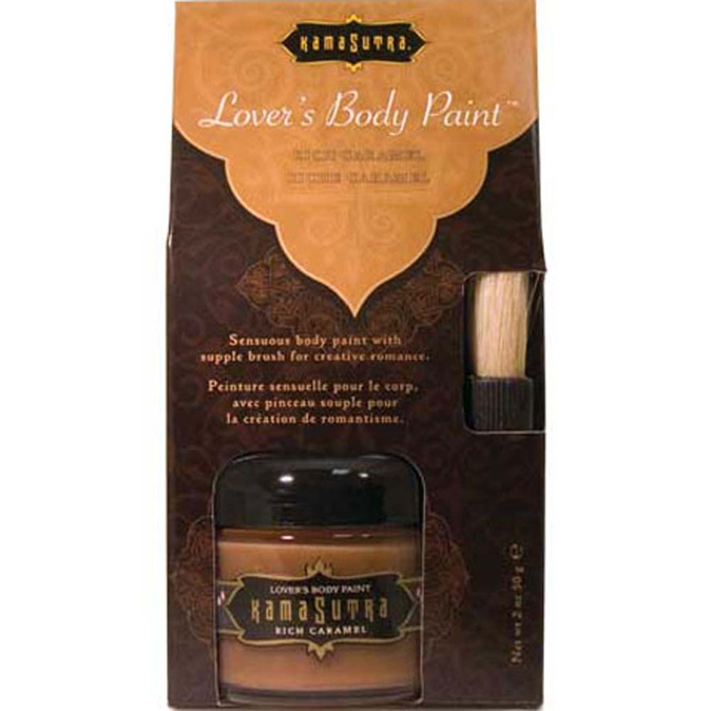 Kama Sutra Lovers Body Paint Rich Carmel 2 Fl. Oz. - View #2