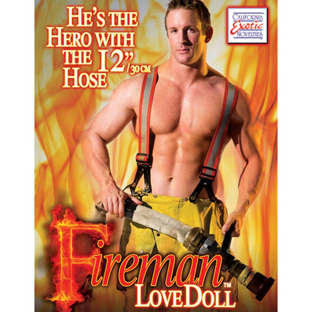California Exotics Fireman Inflatable Love Doll - View #2