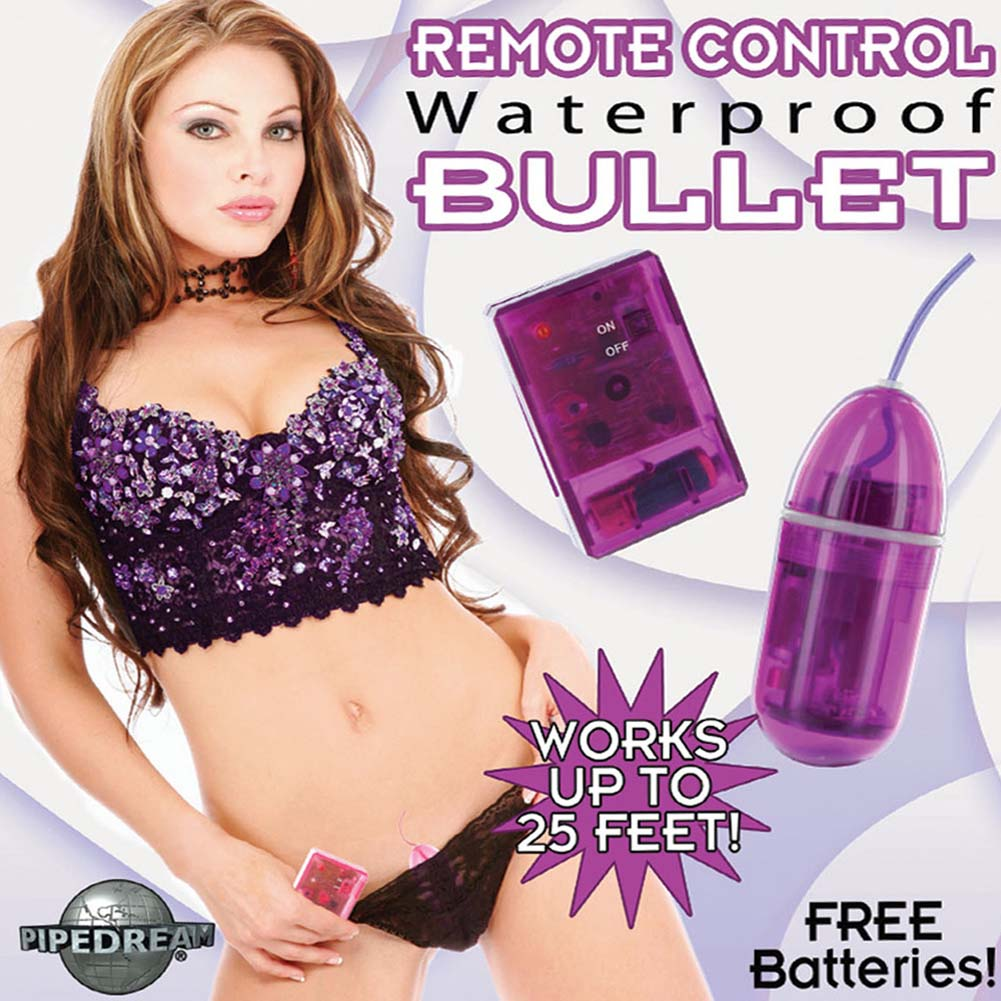 Wireless Remote Control Waterproof Bullet Purple RbDV - View #2