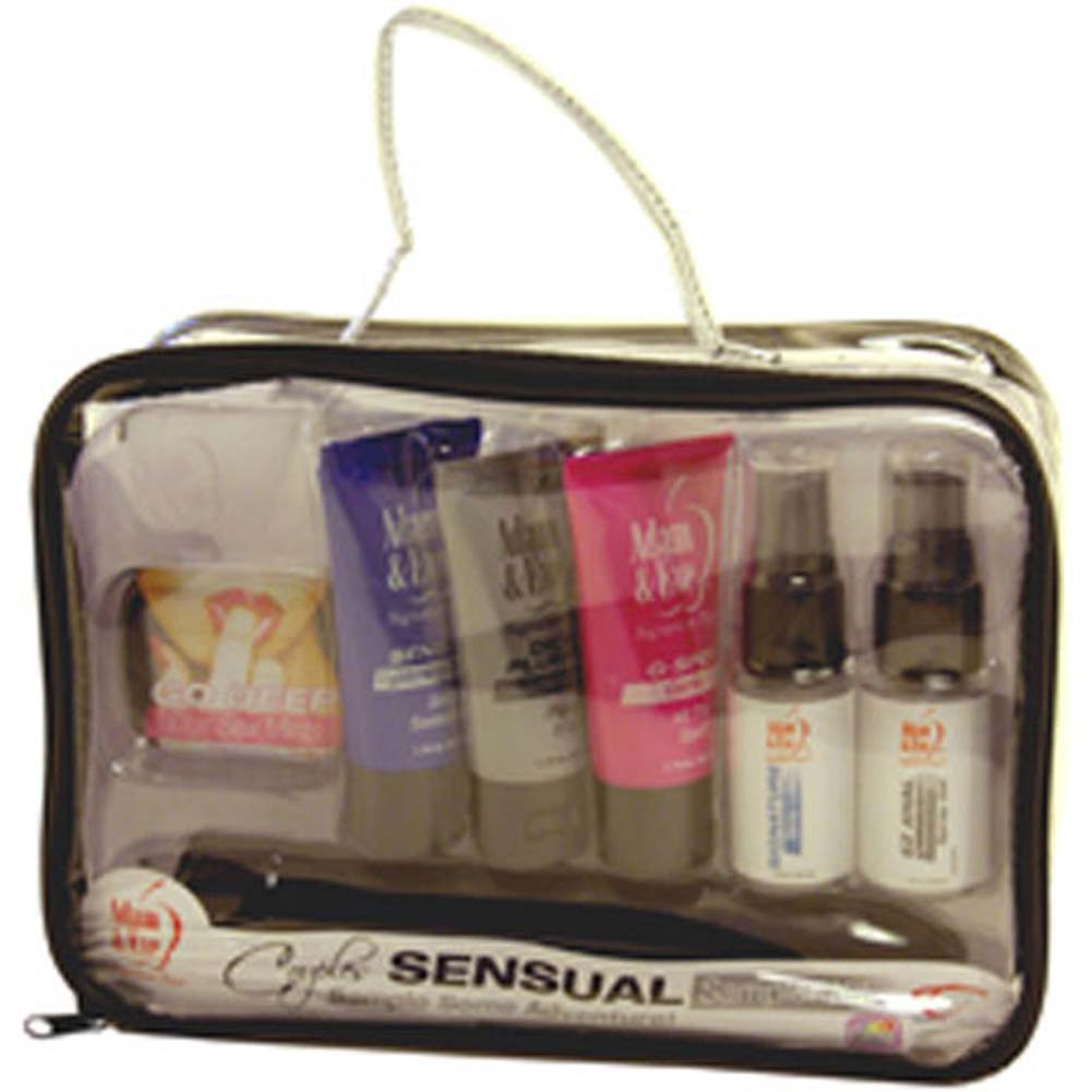 """Adam and Eve Sensual Sampler Kit with Vibe 7.5"""" Black - View #3"""
