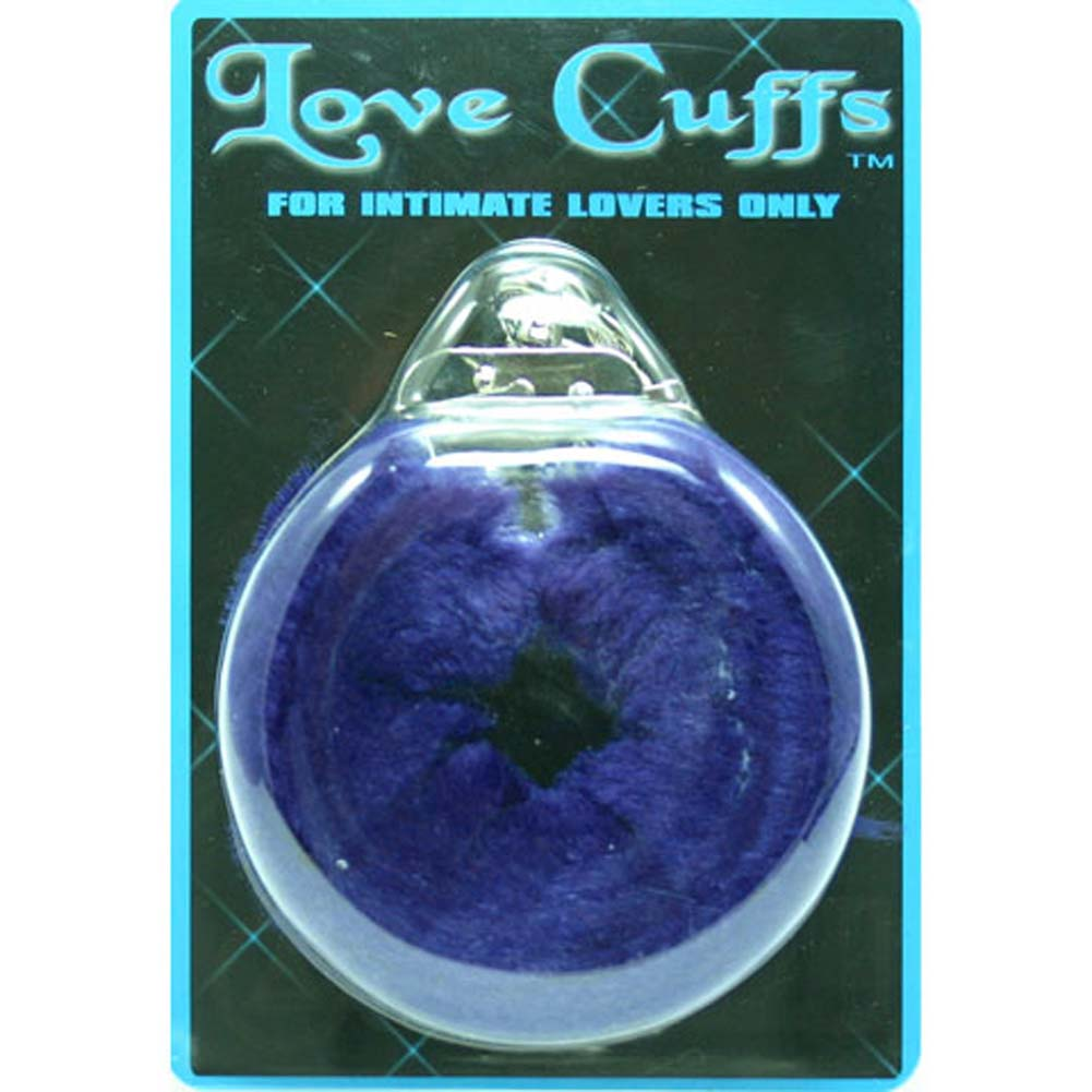 Faux Fur Love Cuffs for Intimate Lovers Plush Blue - View #1