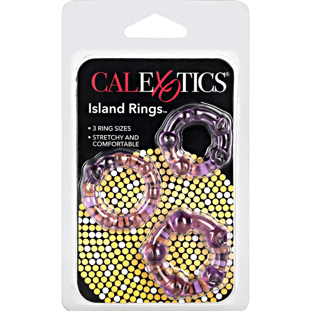 Island Silicone Rings 3 Sizes Purple - View #4