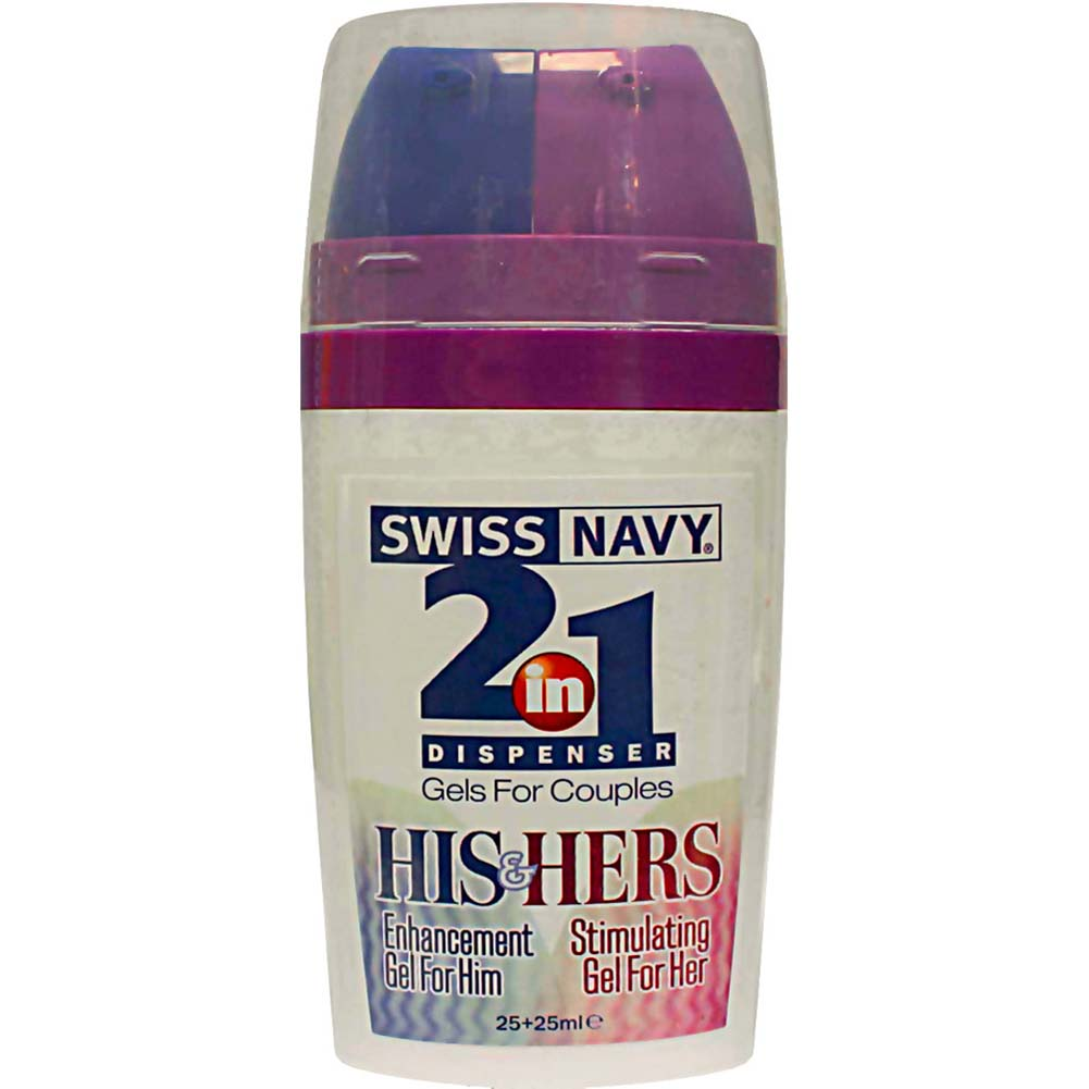 Swiss Navy 2-in-1 Dispenser HIS HERS Stimulating Gels for Couples - View #2
