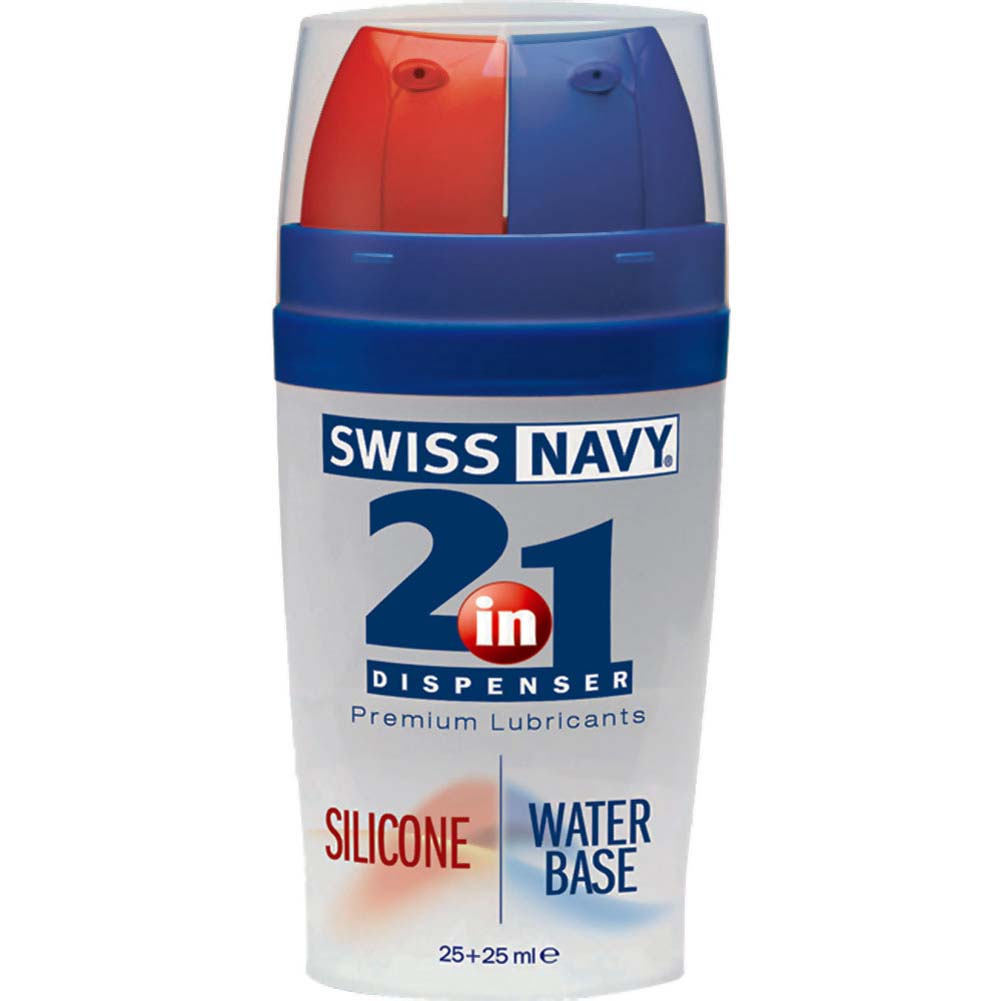 Swiss Navy 2-in-1 Dispenser Silicone and Water-Based Lubricants - View #1