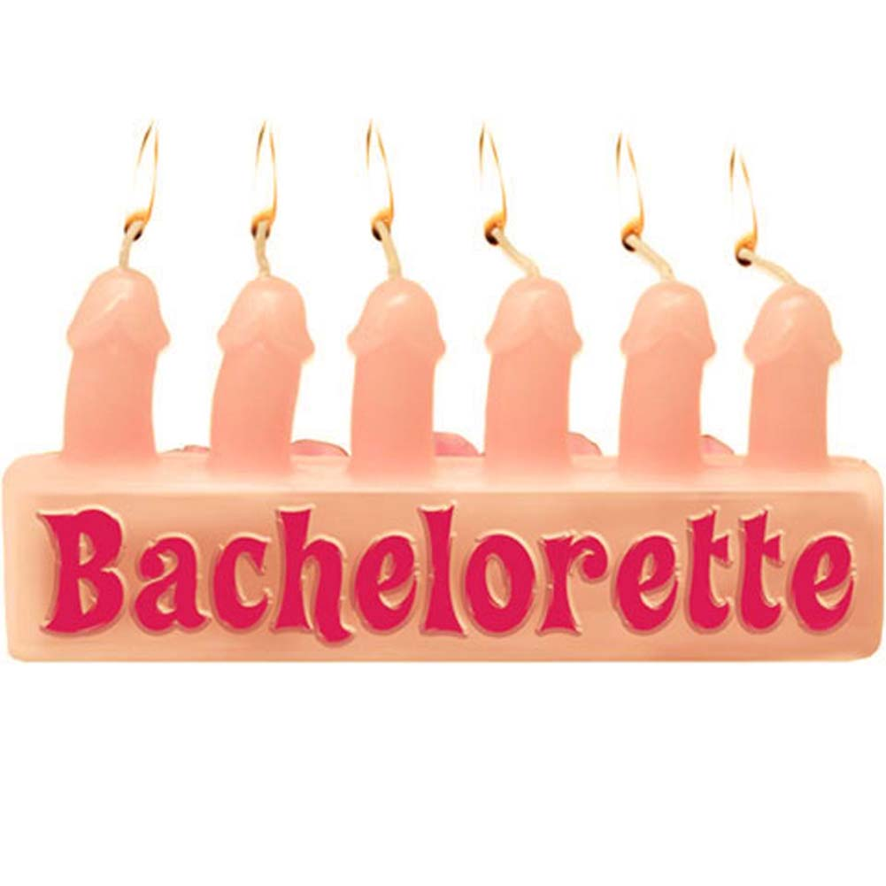 Bachelorette Party Favors Pecker Candles Pink - View #2