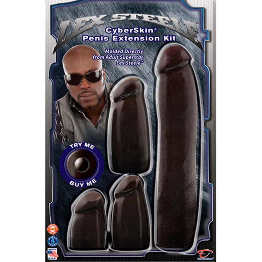 Lex Steele CyberSkin Waterproof Penis Extension Kit Black - View #3
