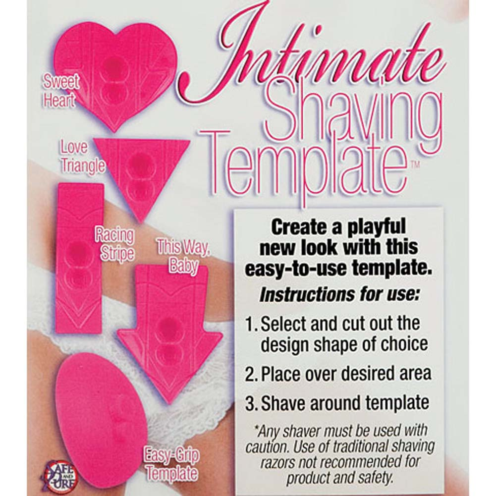 Intimate Shaving Template Pink - View #2