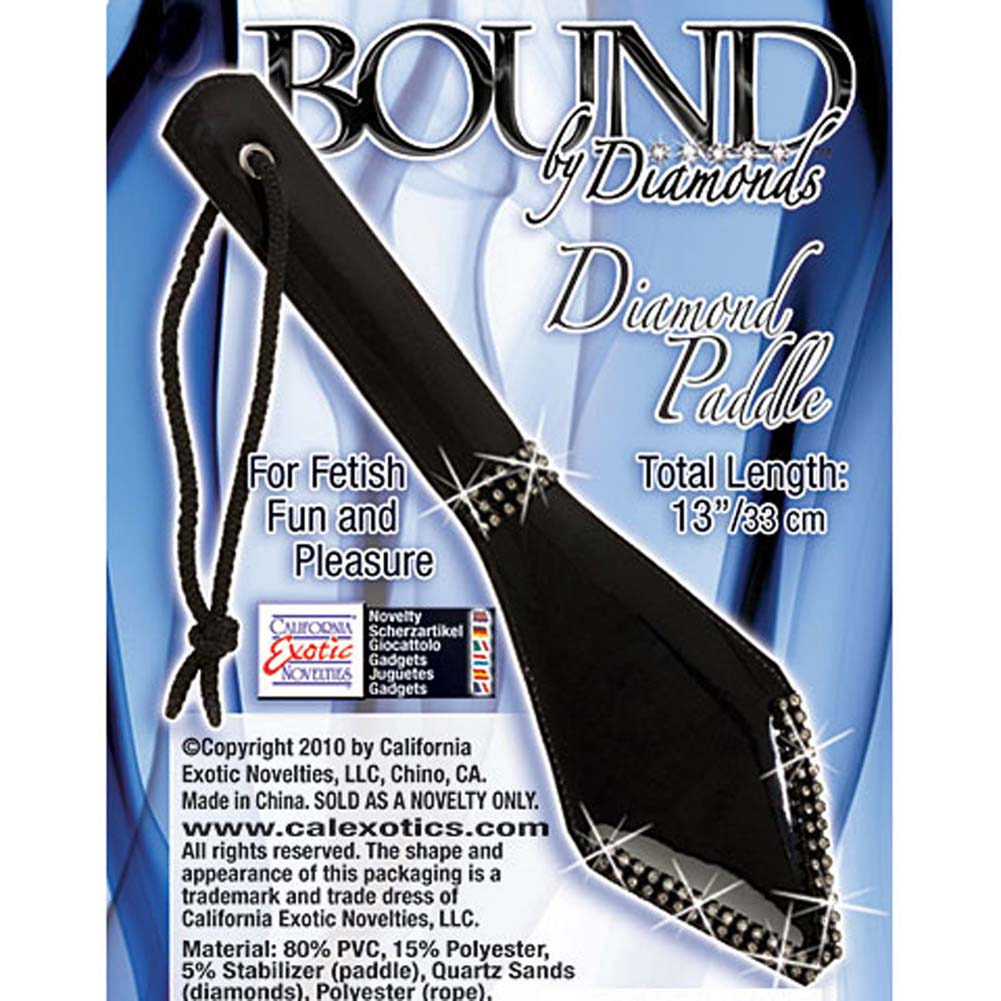 "Bound by Diamonds Leather Paddle 13"" Black - View #3"
