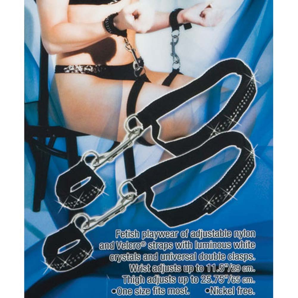 Bound by Diamonds Thigh Restraints 2 Piece Black - View #3