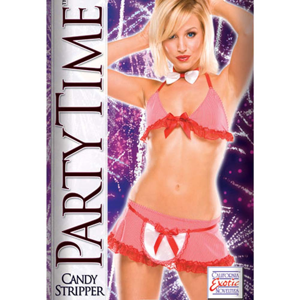 Party Time Candy Stripper Costume - View #1