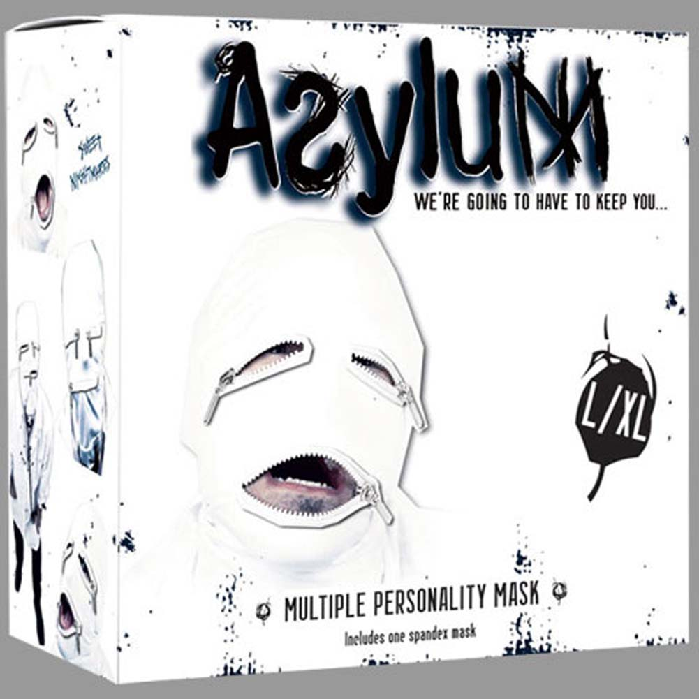 Asylum Multiple Personality Mask Large/Extra Large Medical White - View #1