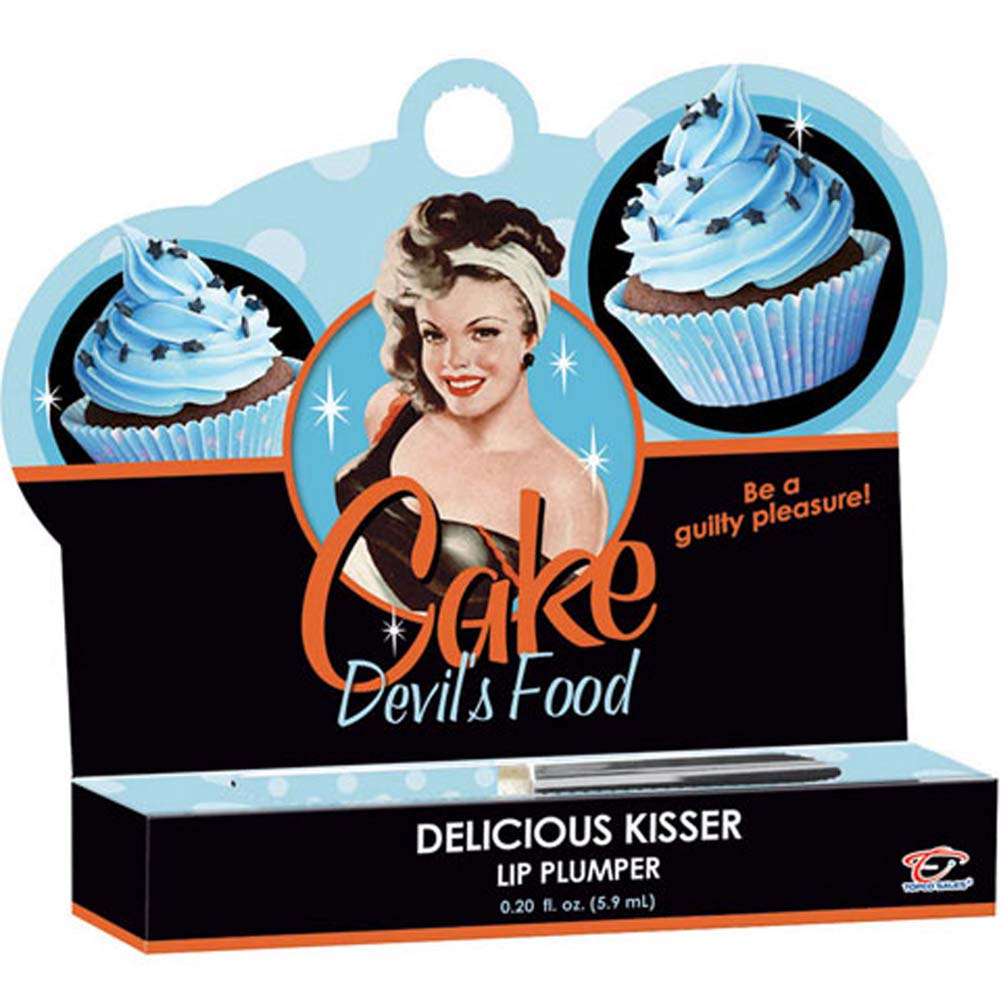 Cake Delicious Kisser Lip Plumper Devils Food .20 Oz. Tube - View #1