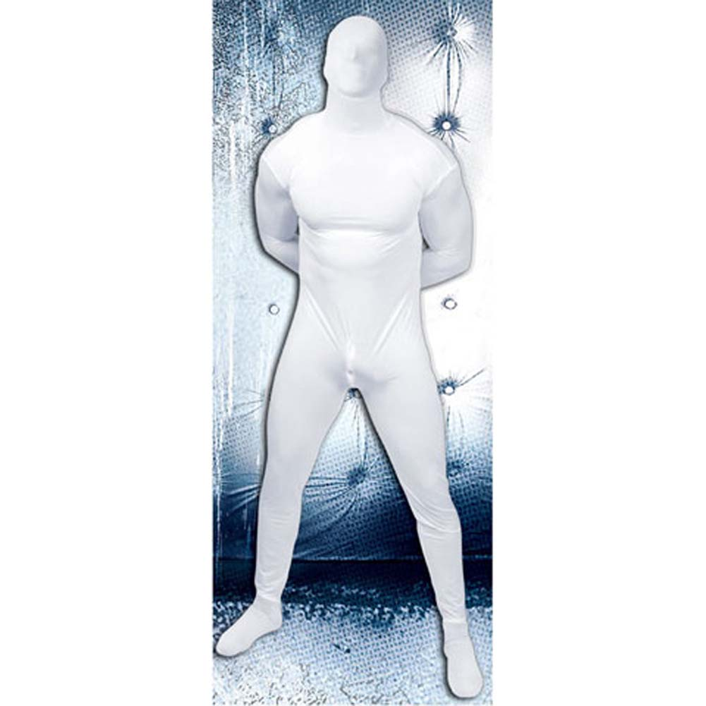 Asylum Second Skin Lycra Bodysuit Large/X-Large Medical White - View #2