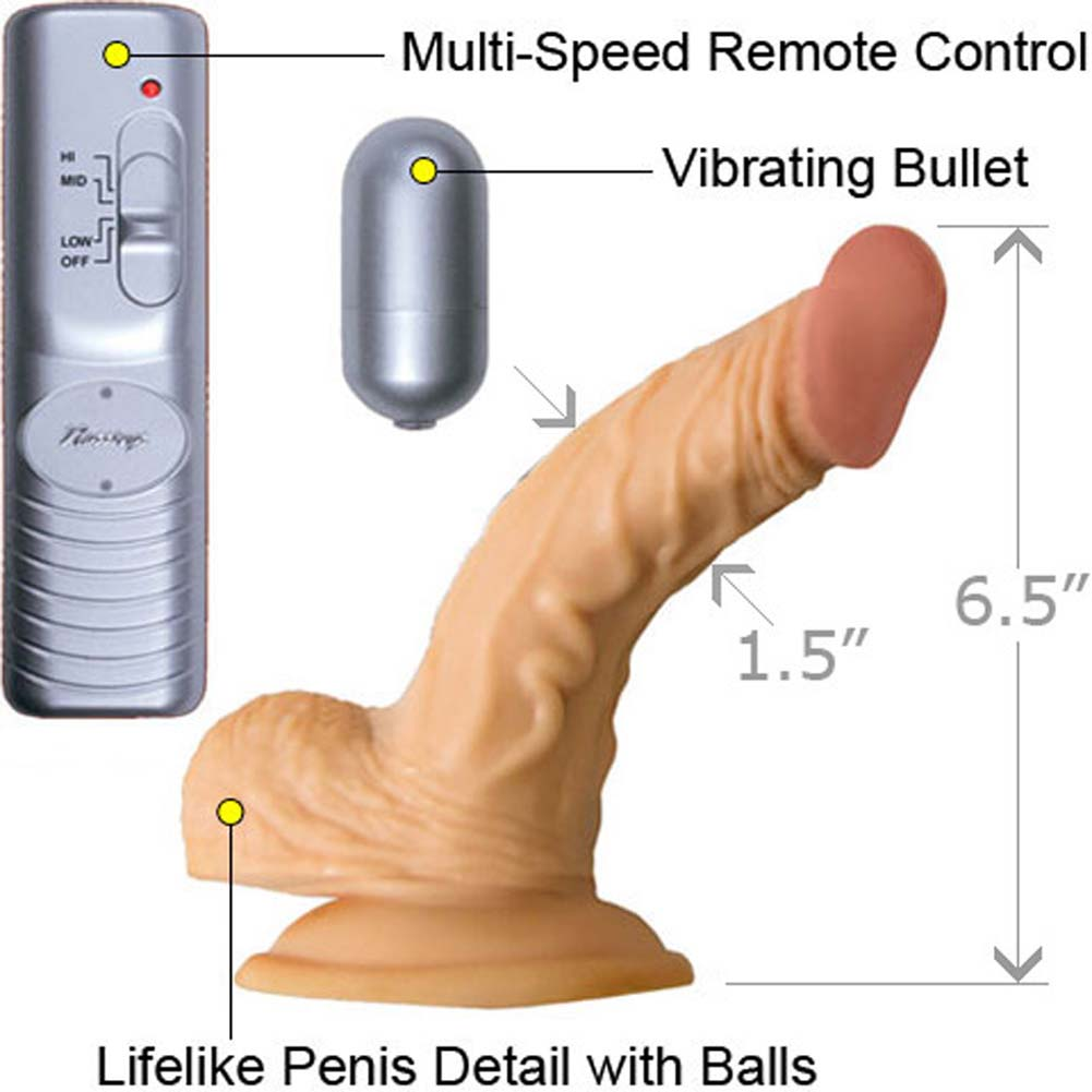 """RealSkin All American Whopper 5"""" Vibe with Balls Natural - View #1"""