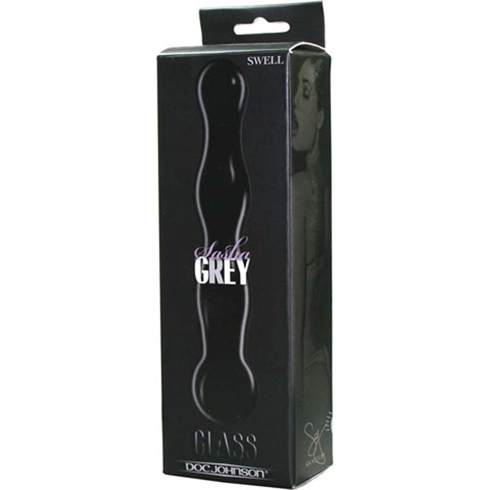 "Sasha Grey Signature Glass Swell Dildo 7.5"" Black - View #2"