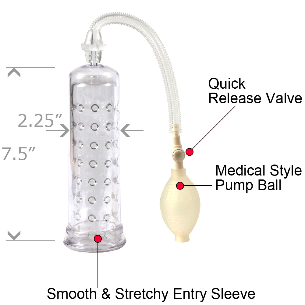 Doc Johnson So Pumped Penis Pump with Sleeve Clear - View #1