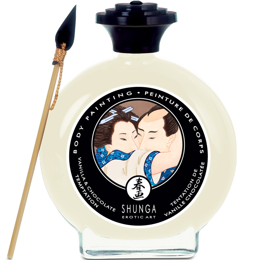 Shunga Flavored Body Painting 3.5 Fl.Oz 100 mL Vanilla and Chocolate Temptation - View #1