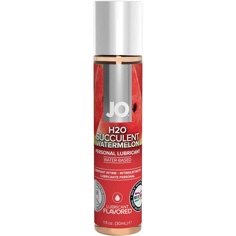 JO H2O Flavored Intimate Lubricant 1 Fl.Oz 30 mL Succulent Watermelon - View #1